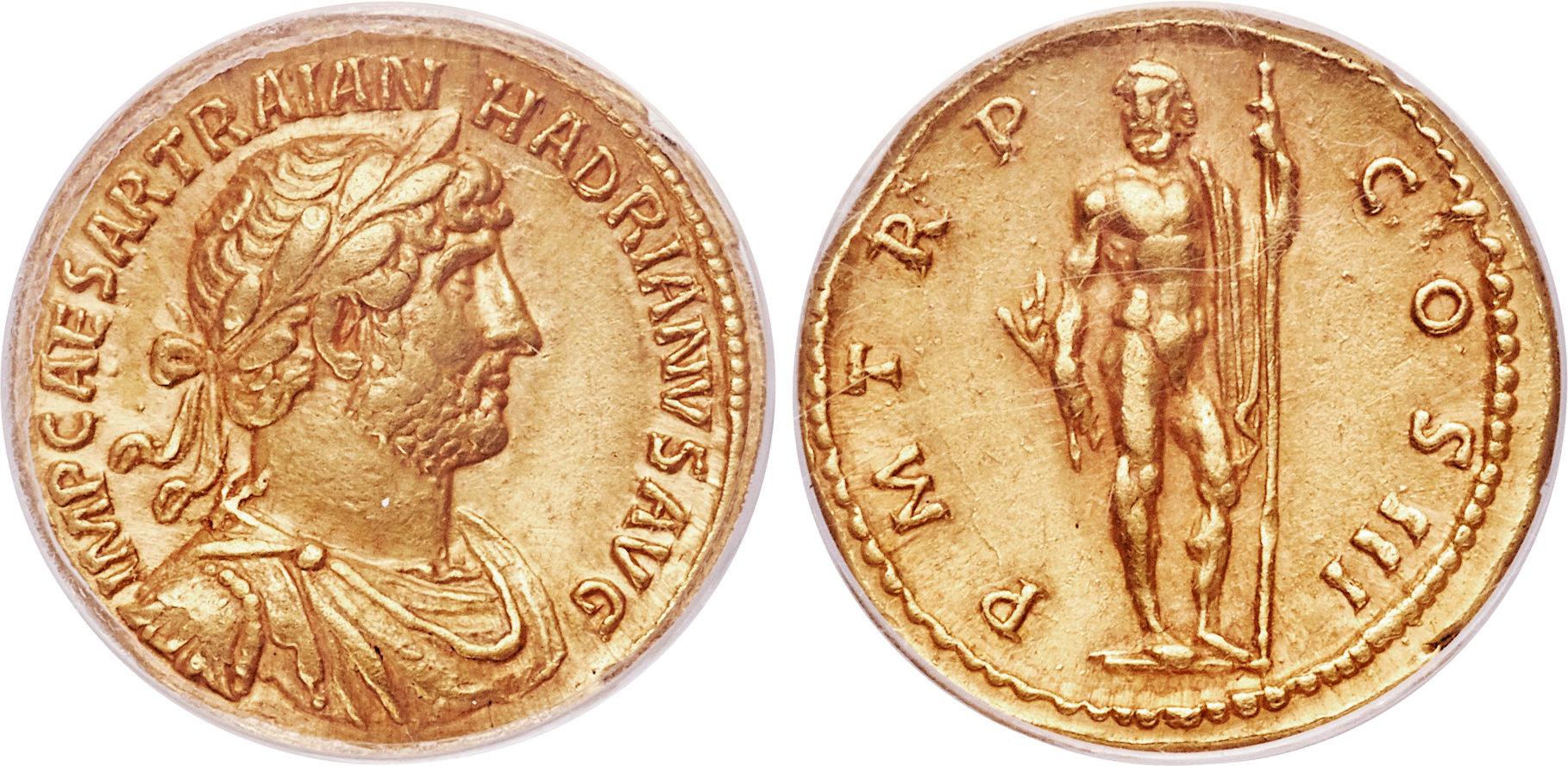 CoinArchives.com Search Results : aureus hadrian