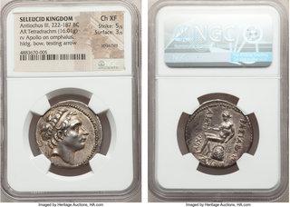 Apollo Vf+.seleucia On The Tigris Mint *aet* Antiochus I Soter Ar Tetradrachm