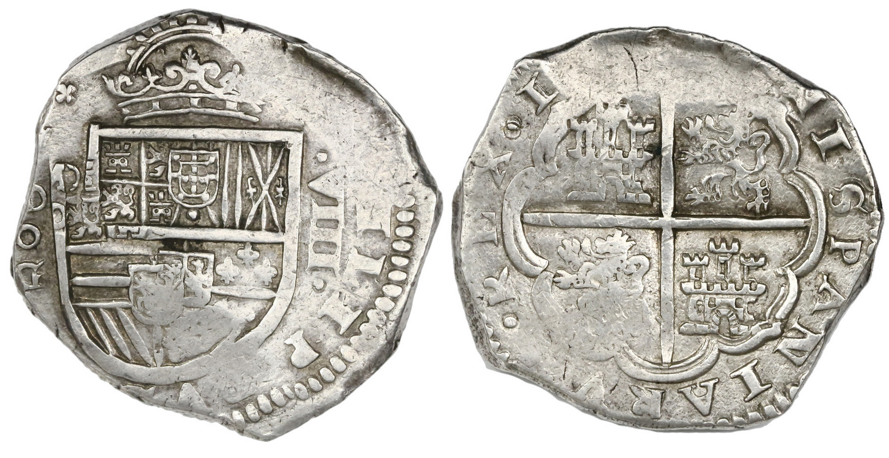 foto de CoinArchives.com Search Results : Spain Madrid 8 reales Philip V