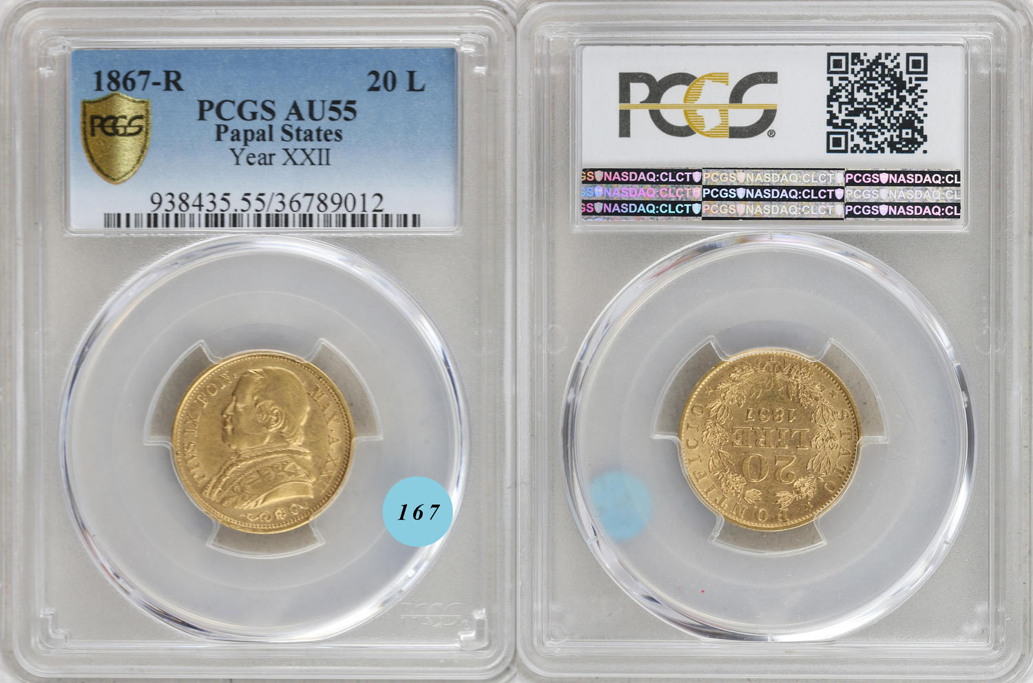 b6604d50ae CoinArchives.com Search Results : pio IX 20 lire