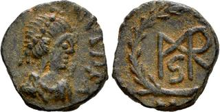 Expressive Byzantine Empire Justin Ii Follis Sophia Cyzicus Ae 27 Nice Coin Coins: Ancient Coins & Paper Money