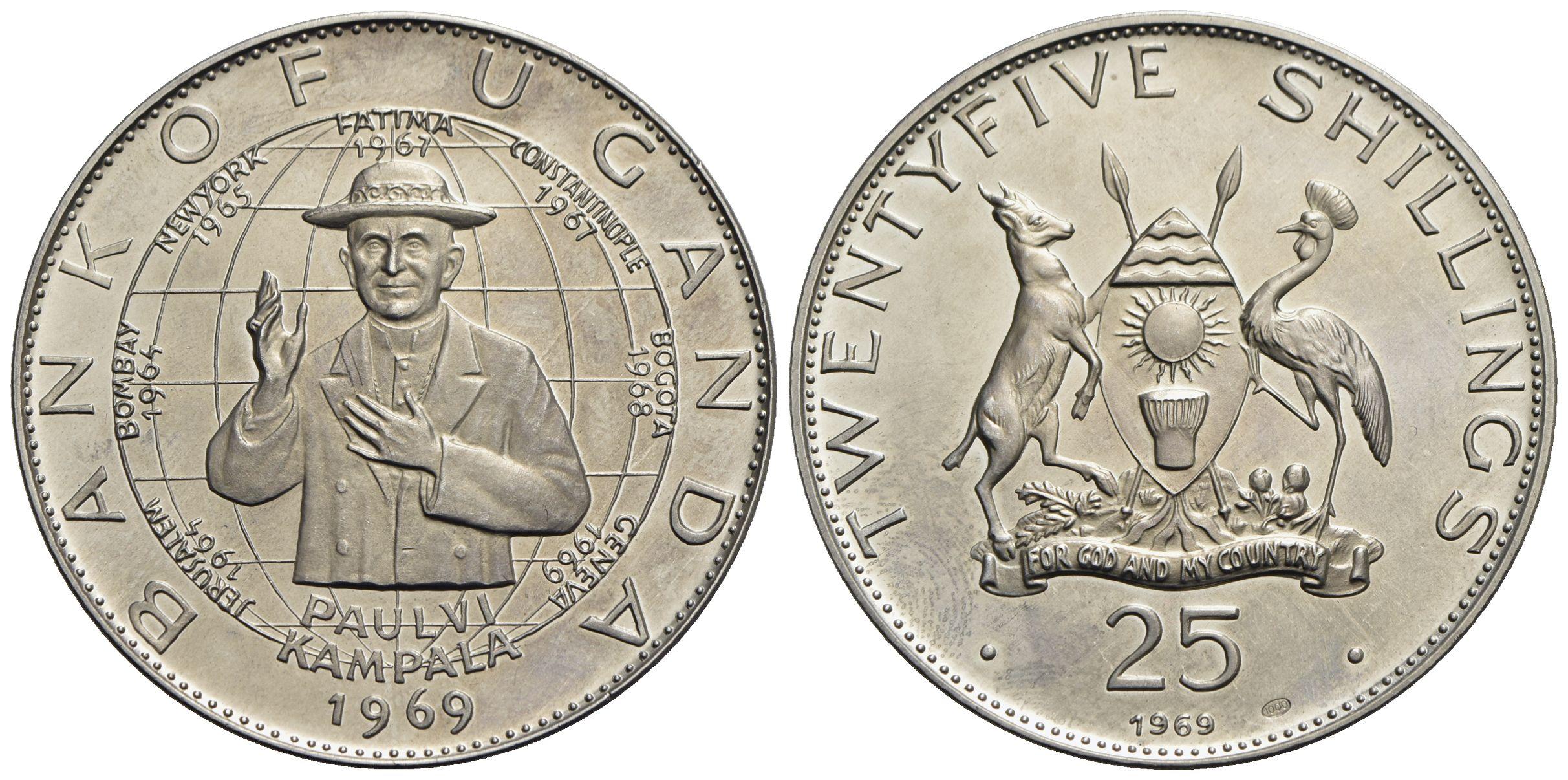 KM27 Uganda 1987 1 Shilling 10 Uncirculated Coin Lot