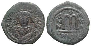 Expressive Byzantine Empire Justin Ii Follis Sophia Cyzicus Ae 27 Nice Coin Byzantine (300-1400 Ad)