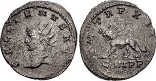 Ancient Roman Billon Antoninianus Salonina c42 254-268
