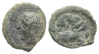 Greek (450 Bc-100 Ad) Griechen Phoenicia Sidon Traianus 98-117 Tyche Prozessionswagen Astarte Rrr Coins: Ancient