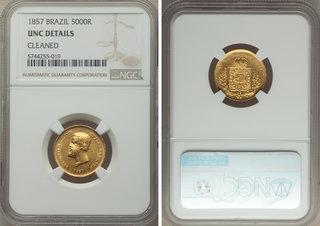 NGC AU Details 1876 Brazil 1000 Reis