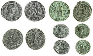Expressive Byzantine Empire Justin Ii Follis Sophia Cyzicus Ae 27 Nice Coin Coins & Paper Money