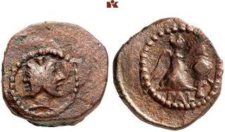 Strike Superbly Centered Thrace Chersonesos Ar Hemidrachm Obv Lion Re Grapes