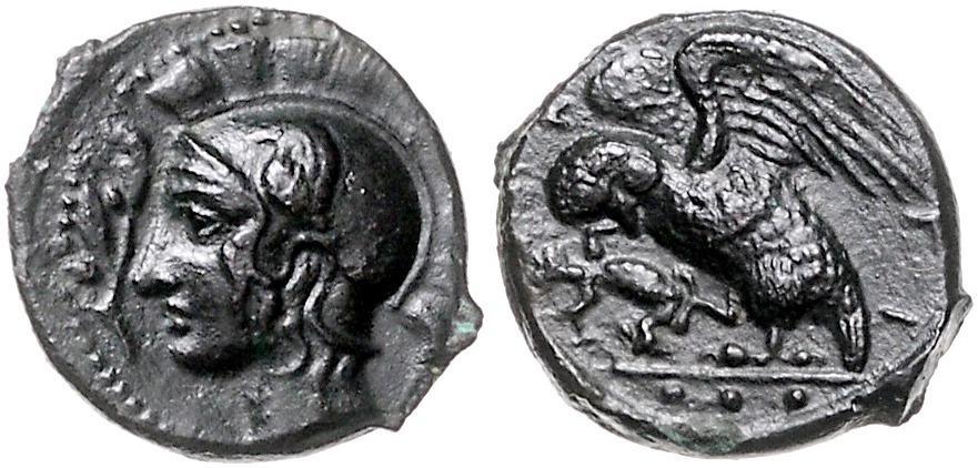 Sicily Kamarina 410-405 Bc Tetras Owl.selten 15 Mm Griechische Münzen Münzen