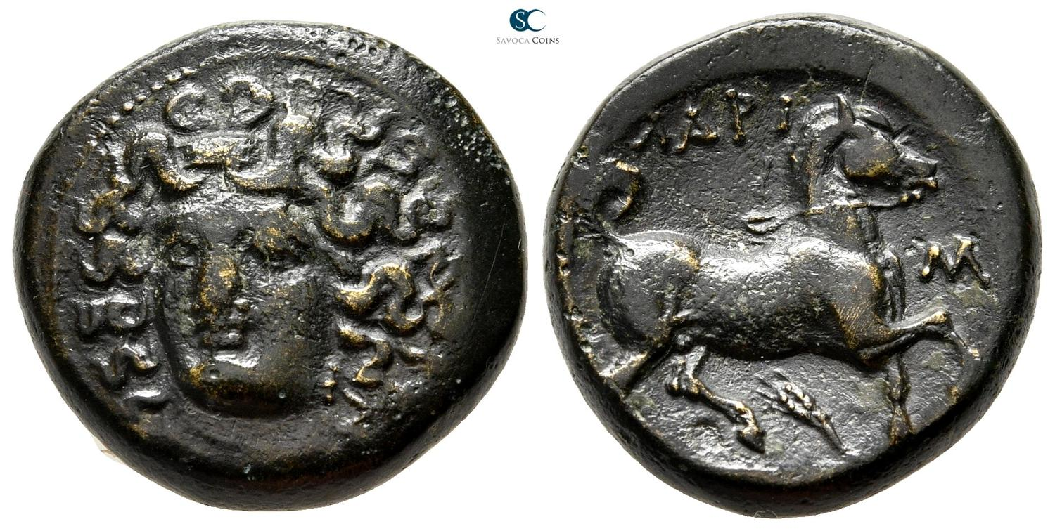 Thessaly Larissa ΛΑΡΙΣΑΙΩΝ Nymph Horse Chalkous Ae 14 Nice Coin Greek (450 Bc-100 Ad) Coins: Ancient