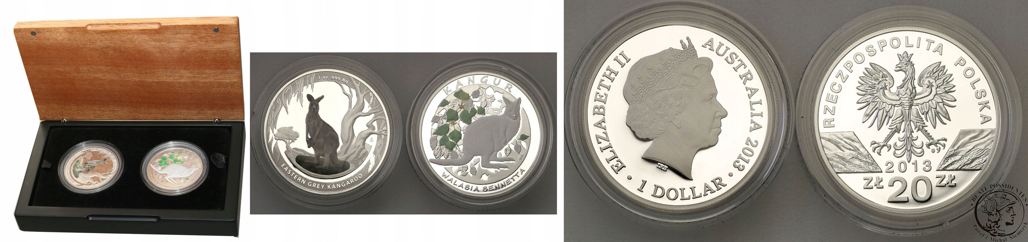 $1 KANGAROO SILVER FROSTED UNCIRCULATED 1oz COIN ON CARD COMPLETE!! 1997 RAM