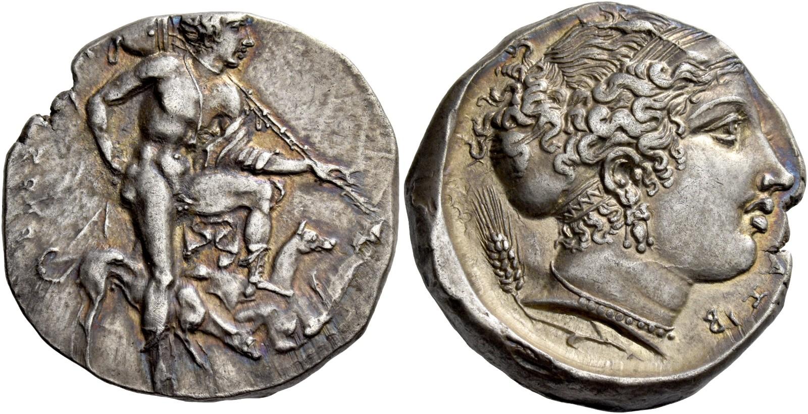 Xf. Sicily 480-470 B.c Gela Silver Tetradrachm