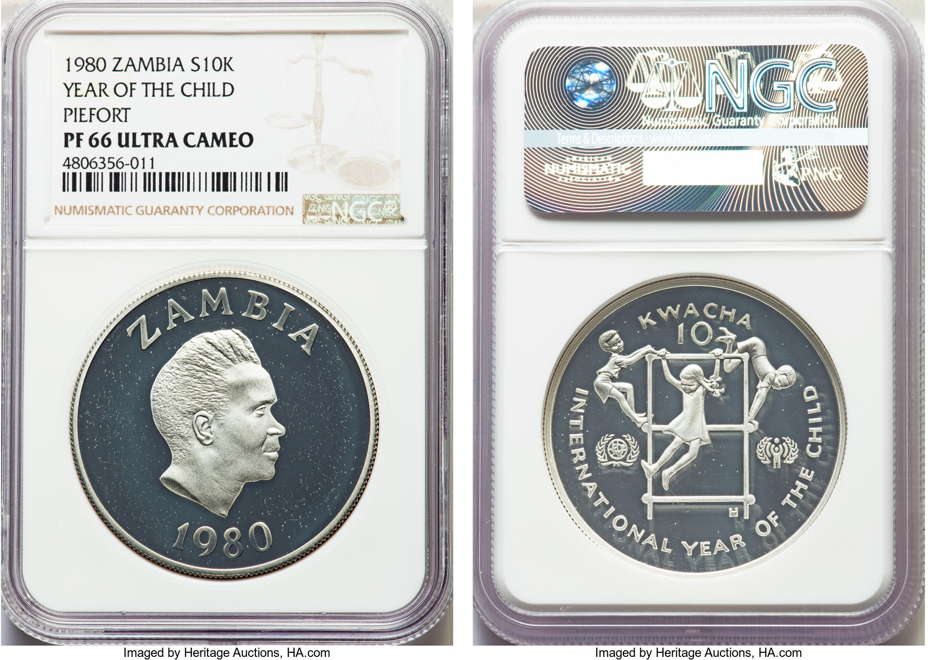 Coins: World 2004 Zambia Cuni And 2001 Zambia Silver Coin