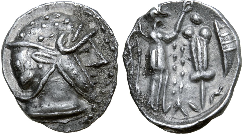 3pcs Ancient Greek King Philip II Rare Silver Tetradrachm Of Macedon 323 BC Coin