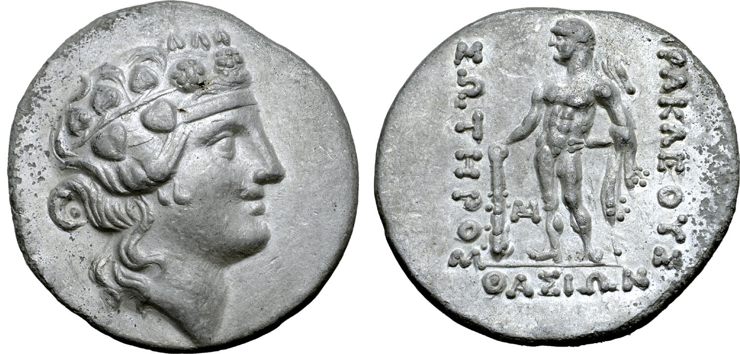 CoinArchives.com Search Results : thasos and tetradrachme