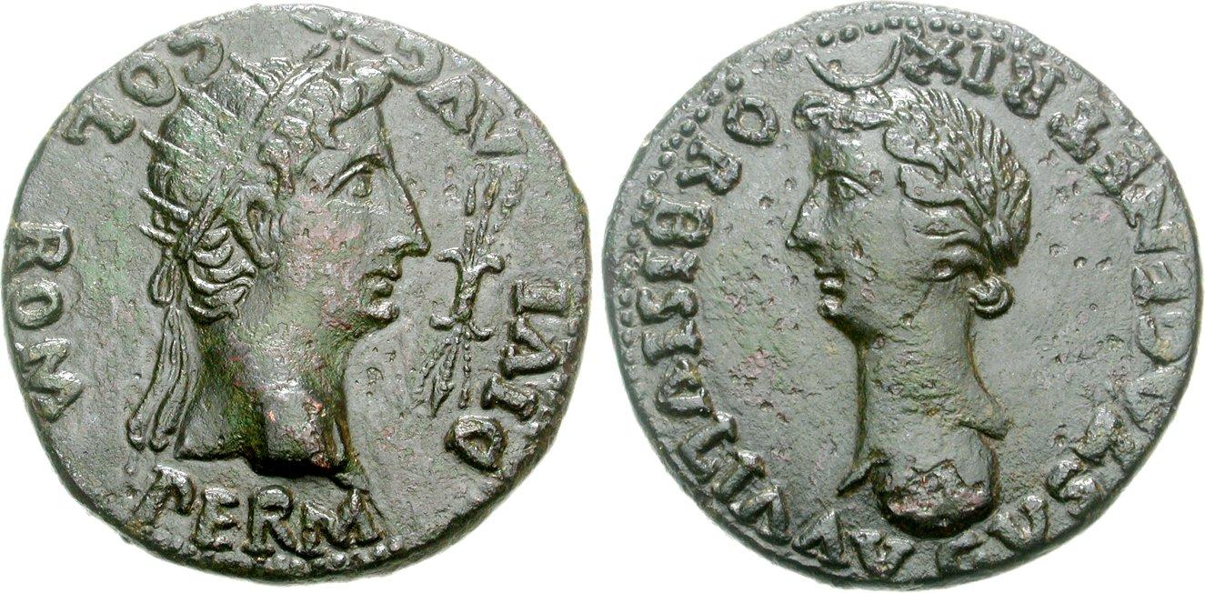 Dupondio de Colonia Romula. Image00764