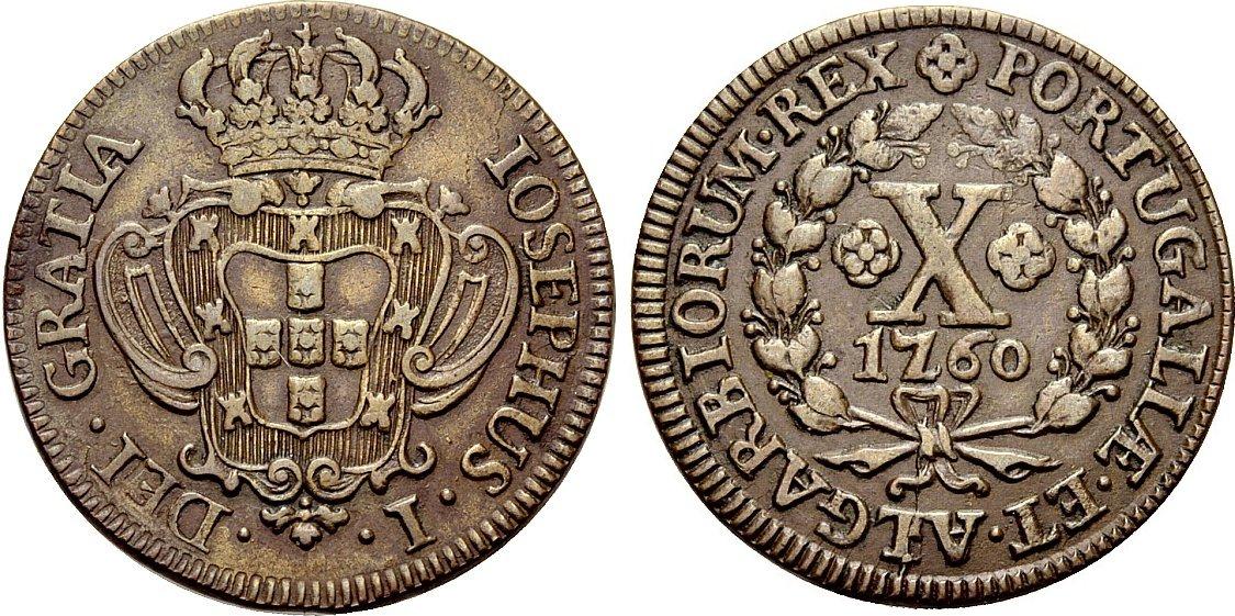 Moneda portuguesa de Jose I Image01000