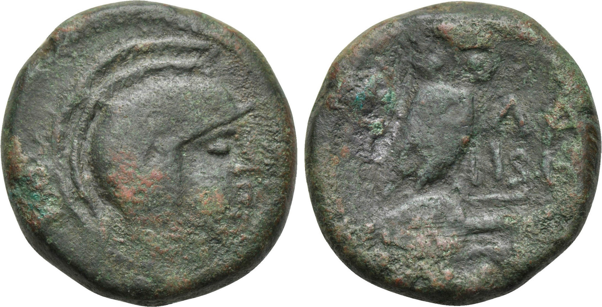 Bronce de Atenas (Atenea - Mochuelo sobre ánfora) / 195-190 a.C. Image00023