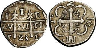 2 Reales Moneda Provisional (18)23 (2 R. M.P.). Gobierno Provisional de Honduras. TL (Comayagua (Honduras)). Moneda o fantasia? Thumb01389